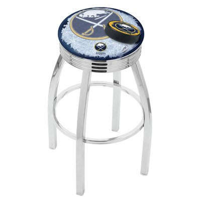 NHL 25 Swivel Bar Stool with Cushion NHL Team: Buffalo Sabres