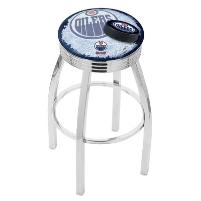 NHL 25 Swivel Bar Stool with Cushion NHL Team: Edmonton Oilers