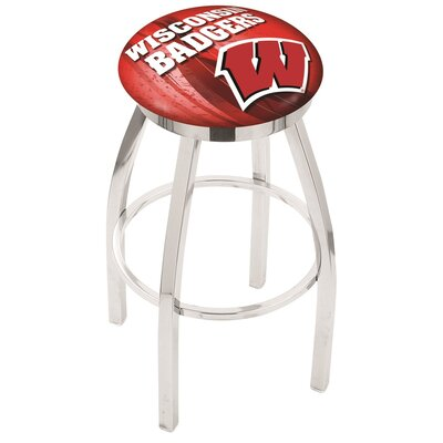 NCAA 30 Swivel Bar Stool NCAA Team: Wisconsin Bucky Badger