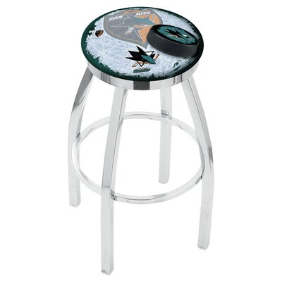 NHL 25 inch Swivel Bar Stool with Cushion NHL Team: San Jose Sharks