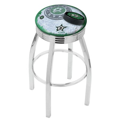 NHL 25 Swivel Bar Stool with Cushion NHL Team: Dallas Stars