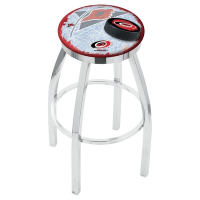 NHL 25 Swivel Bar Stool with Cushion NHL Team: Carolina Hurricanes