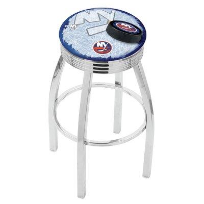 NHL 25 Swivel Bar Stool with Cushion NHL Team: New York Islanders