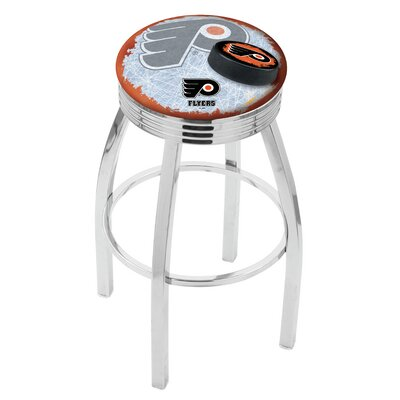"NHL 25"" Swivel Bar Stool with Cushion NHL Team: Philadelphia Flyers - Orange L8C3C25PhiFly-O-D2"
