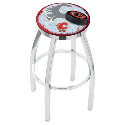 NHL 25 Swivel Bar Stool NHL Team: Calgary Flames