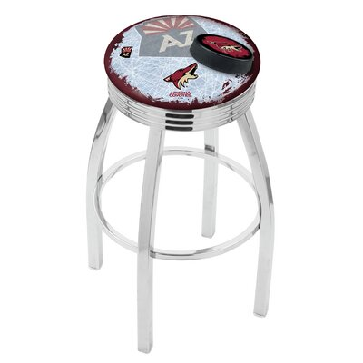 NHL 25 Swivel Bar Stool with Cushion NHL Team: Arizona Coyotes