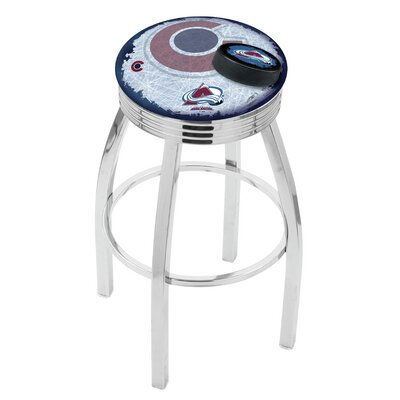 NHL 25 Swivel Bar Stool with Cushion NHL Team: Colorado Avalanche