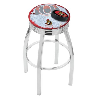 NHL 25 Swivel Bar Stool with Cushion NHL Team: Ottawa Senators