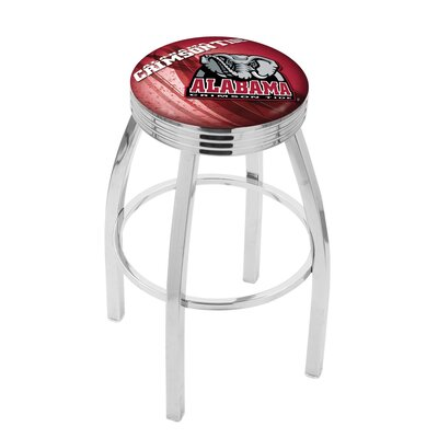 NCAA 30 Swivel Bar Stool with Cushion NCAA Team: Alabama Crimson Tide