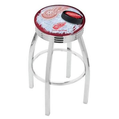 NHL 25 Swivel Bar Stool with Cushion NHL Team: Detroit Red Wings