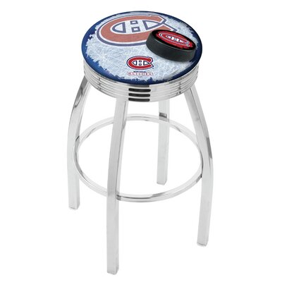NHL 25 inch Swivel Bar Stool with Cushion NHL Team: Montreal Canadiens