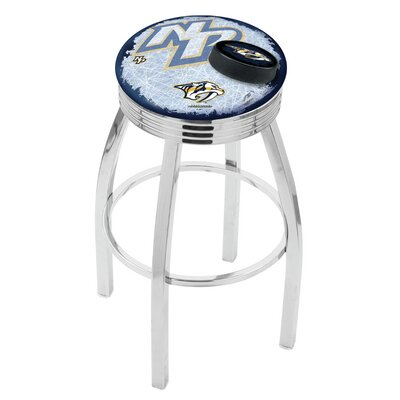 NHL 25 inch Swivel Bar Stool with Cushion NHL Team: Nashville Predators