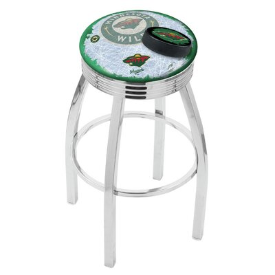 Minnesota Wild Bar Stool-l8c3c - L8c3c30minwld-d2 - Chairs Table Nhl Stool L8C3C30MINWLD-D2