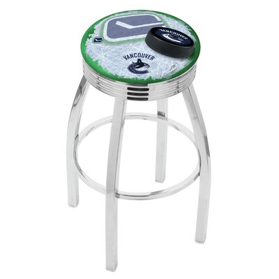 NHL 25 inch Swivel Bar Stool with Cushion NHL Team: Vancouver Canucks