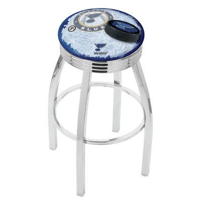 NHL 25 Swivel Bar Stool with Cushion NHL Team: St Louis Blues