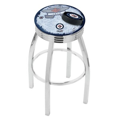 NHL 25 Swivel Bar Stool with Cushion NHL Team: Winnipeg Jets