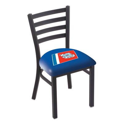 U.S. Armed Forces Stationary Side Chair Upholstery: Blue, Branch: U.S. Coast Guard