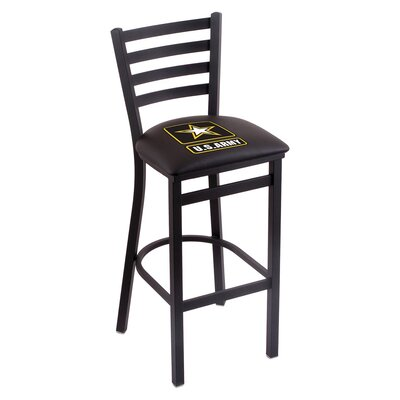 U.S. Armed Forces Bar Stool Upholstery: Black, Branch: U.S. Army