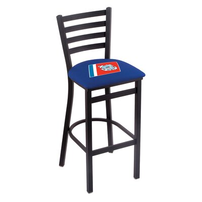 U.S. Armed Forces Bar Stool with Cushion Upholstery: Blue, Branch: U.S. Coast Guard