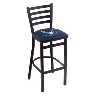 U.S. Armed Forces Bar Stool with Cushion Upholstery: Blue, Branch: U.S. Air Force