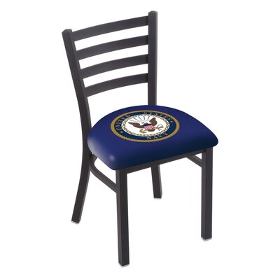 U.S. Armed Forces Stationary Side Chair Upholstery: Blue, Branch: U.S. Navy