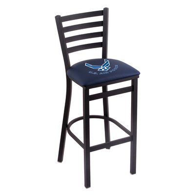 U.S. Armed Forces Bar Stool Upholstery: Blue, Branch: U.S. Air Force