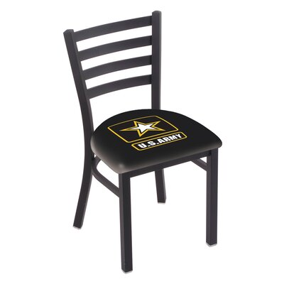 U.S. Armed Forces Stationary Side Chair Upholstery: Black, Branch: U.S. Army
