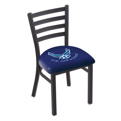 U.S. Armed Forces Stationary Side Chair Upholstery: Blue, Branch: U.S. Air Force