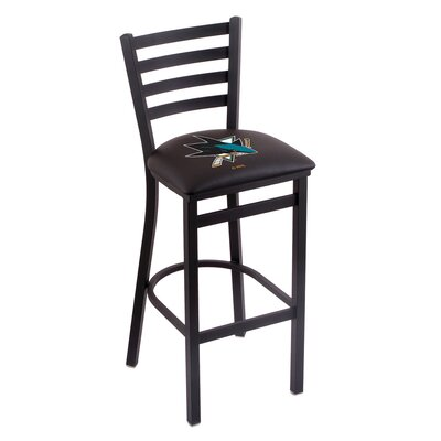 NHL Bar Stool with Cushion NHL Team: San Jose Sharks