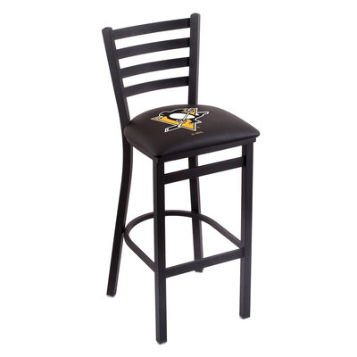 NHL Bar Stool with Cushion NHL Team: Pittsburgh Penguins