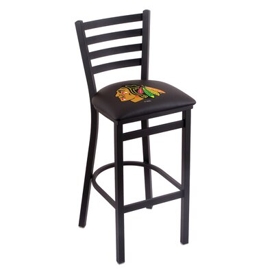 NHL Bar Stool with Cushion NHL Team: Chicago Blackhawks - Black