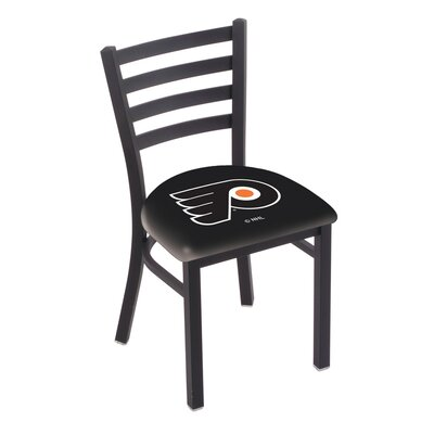 NHL Stationary Side Chair NHL Team: Philadelphia Flyers - Black