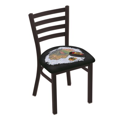 NHL Stationary Side Chair NHL Team: Chicago Blackhawks - Black