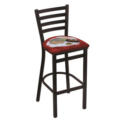 NHL Bar Stool with Cushion NHL Team: Chicago Blackhawks - Red