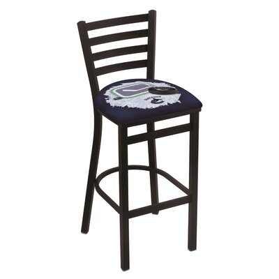 NHL Bar Stool with Cushion NHL Team: Vancouver Canucks