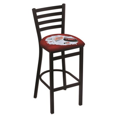 NHL Bar Stool with Cushion NHL Team: Carolina Hurricanes