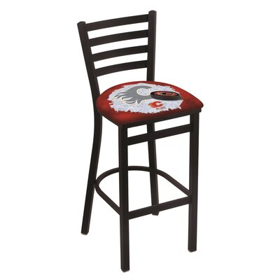 NHL Bar Stool with Cushion NHL Team: Calgary Flames