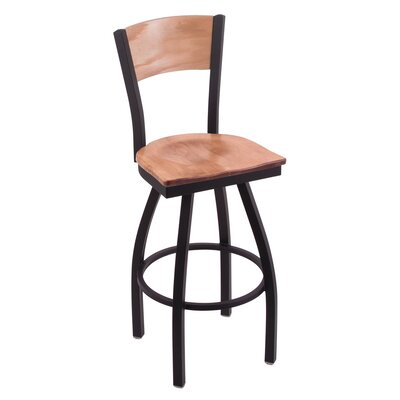 Corvette Swivel Bar Stool Upholstery: Medium Maple