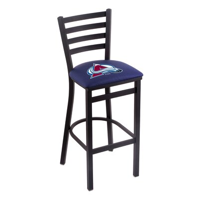 NHL Bar Stool with Cushion NHL Team: Colorado Avalanche