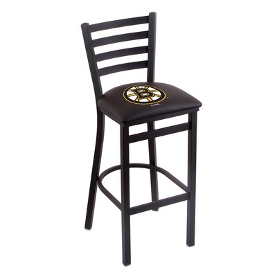 NHL Bar Stool with Cushion NHL Team: Boston Bruins