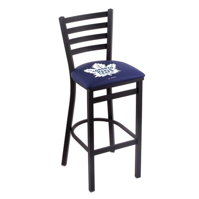 NHL Bar Stool with Cushion NHL Team: Toronto Maple Leafs