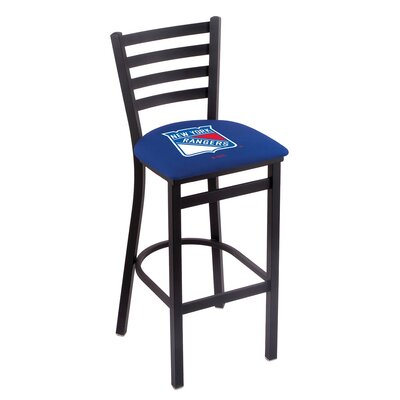 NHL Bar Stool with Cushion NHL Team: New York Rangers