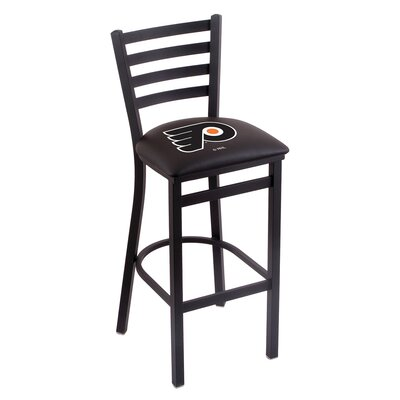 NHL Bar Stool with Cushion NHL Team: Philadelphia Flyers - Black