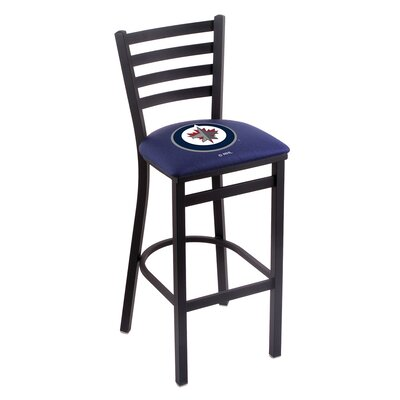 NHL Bar Stool with Cushion NHL Team: Winnipeg Jets