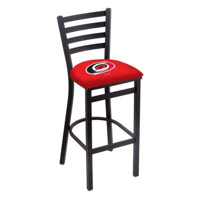 NHL Bar Stool with Cushion NHL Team: Carolina Hurricanes