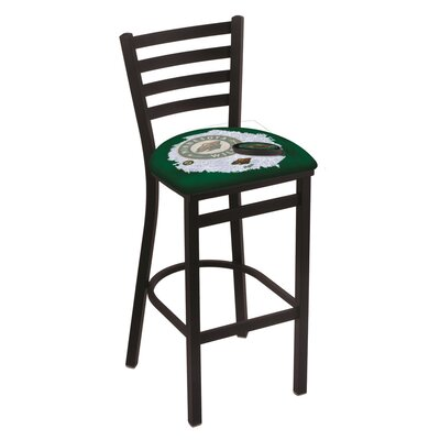 NHL Bar Stool with Cushion NHL Team: Minnesota Wild