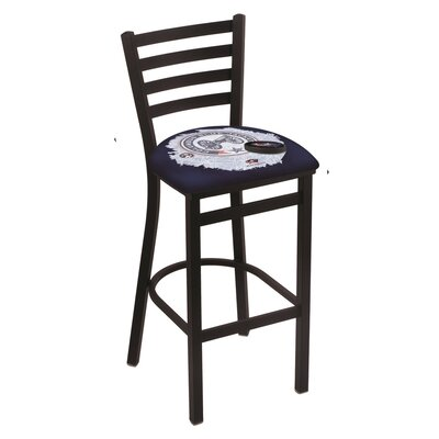 NHL Bar Stool with Cushion NHL Team: Columbus Blue Jackets