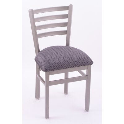Holland Bar Stool Jackie Side Chair - Casters: Yes, Finish: Black Wrinkle, Upholstery: Fabric - Interval Graphite at Sears.com