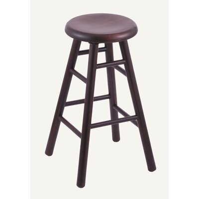 "Holland Bar Stool Domestic hardwood Saddle Dish Swivel Stool - Frame Finish: Oak - Black Paint, Height: 30"", Leg Style: Smooth Legs at Sears.com"
