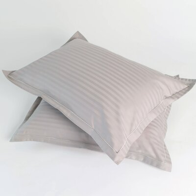 300 Thread Count Jumbo Pillow Shams Twin Pack Color: Steel